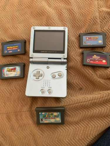 Game Boy Advance Sp Con 5 Juegos Todo Original