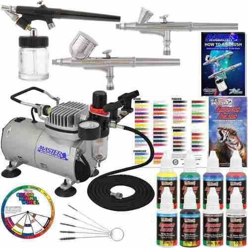 Kit Completo De Aerografo Master Airbrush Compresor