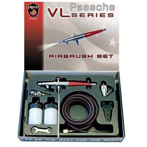 Paasche Airbrush Vl-set - Set De Aerógrafo De Doble Acción