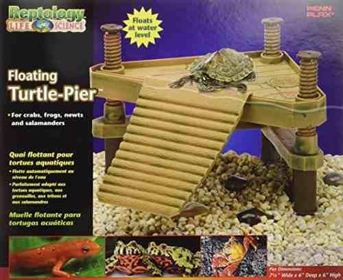 Penn Plax Rep602 El Reptology Flotante De Tortuga Pier & Bas