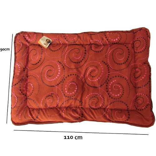 Tapete Cama Perro Arabesque Grande Cobre Espiral 110x90cm