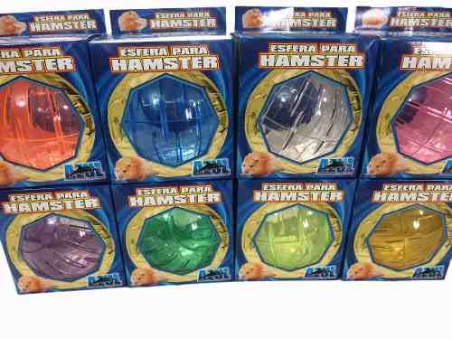 3 Esferas Para Hámster Con Base Metalica