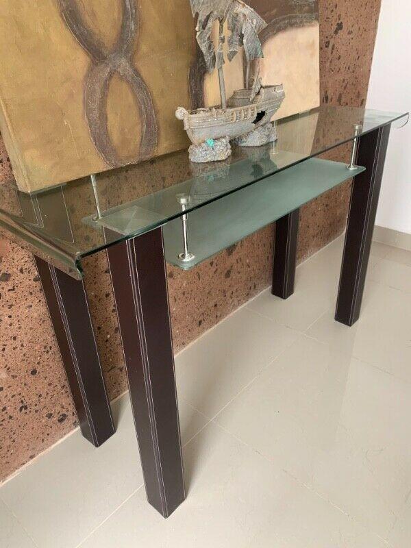 Centro de mesa giratorio en vidrio templado posot class - Mesas de vidrio templado ...