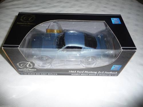 American Muscle 1965 Ford Mustang 2+2 Fastback Blue 1:18