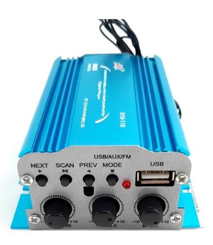 Amplificador 2 Canales 800 Watts Fm Usb Aux Dxr