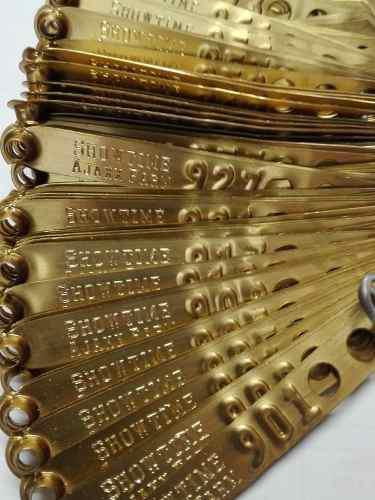 Anillos Y Placas Para Gallos Personalizados 100 Piezas