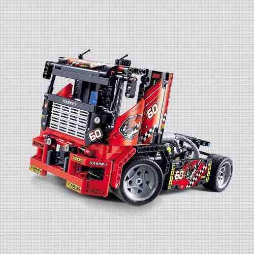 Camión Carreras Modelo Coche Motocicleta Ladrillos De Edifi