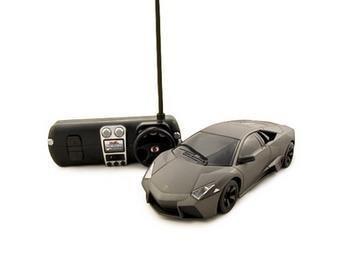 Control Remoto Lamborghini Reventon Coche De Rc 1:24 Negro,