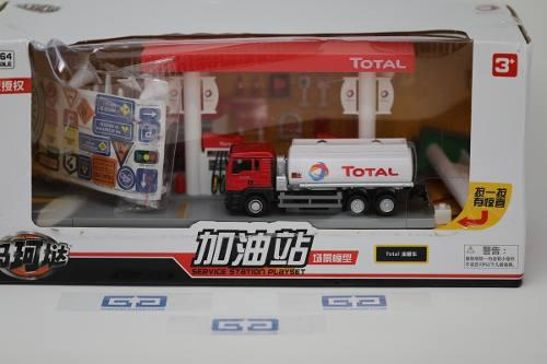 Diorama Gasolineria Escala 1/64 Con Luces Y Accesorios