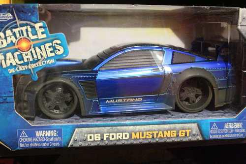 Jada Ford Mustang Gt '06 Battle Machines Azul 1:24