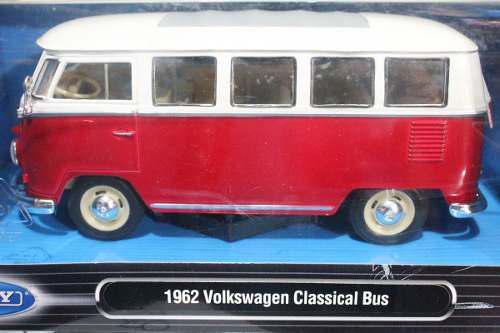 Welly 1962 Volkswagen Classical Bus Escala 1:24