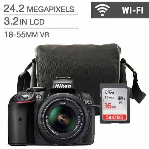 Camara Nikon D Con Af-p Dx Vr mm + Estuche Y 16g Sd