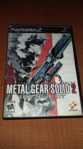 Juego Metal Gear Solid 2 Sons Of Liberty Sony Playstation 2
