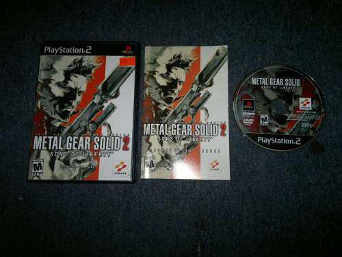 Metal Gear Solid 2 Completo Para Play Station 2,excelente