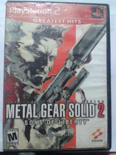 Metal Gear Solid 2: Sons Of Liberty (ps2)
