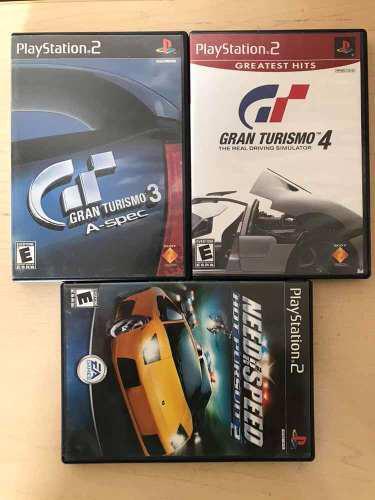 Paquete De 3 Juegos De Carreras Para Playstation 2 Ps2.