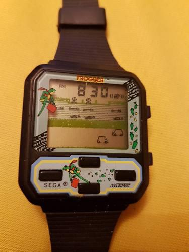 Reloj De Pulsera Vintage De Juego Sega Nelsonic Frogger