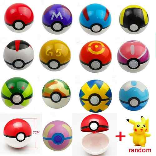 2x1 Pokebola 7cm + 1 Pokemon Al Azar Pokeball Envio Gratis