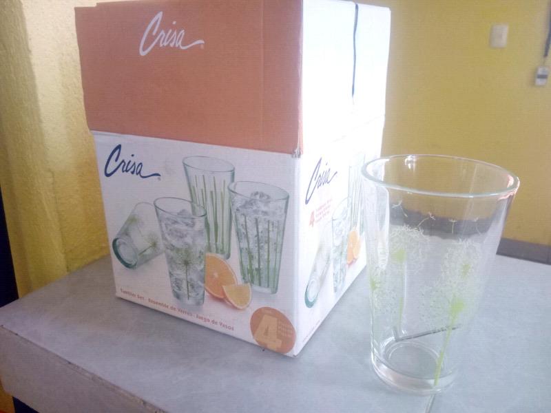 4 vasos de vidrio Crisa