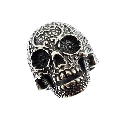 Anillo Calavera Cráneo Inox 316l Biker Rocker Hot Sale