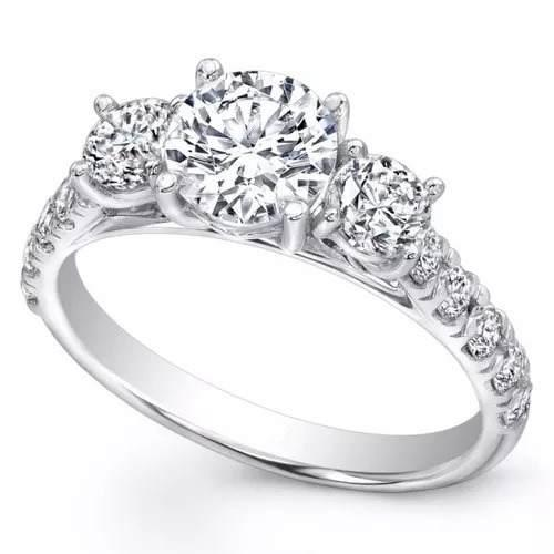Anillo Compromiso Oro 18k Moissanit Forever One 0.95ct
