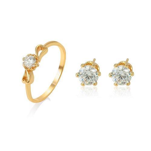 Anillo De Compromiso De Oro Lam Zirconia Diamante +regalo