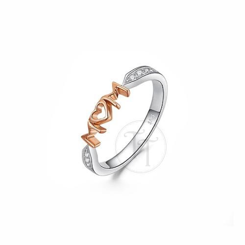 Anillo Mama Plata Esterlina 925 Rose Gold 18k Plating