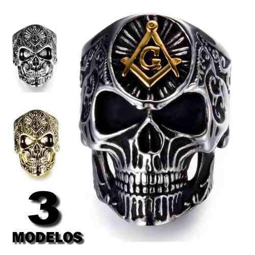 Anillo Masonico De Calavera Craneo Mason Skull 2019