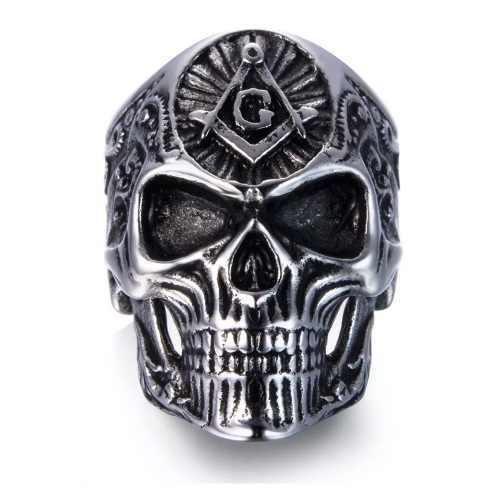 Anillo Masonico De Calavera Para Hombres Skull Craneo