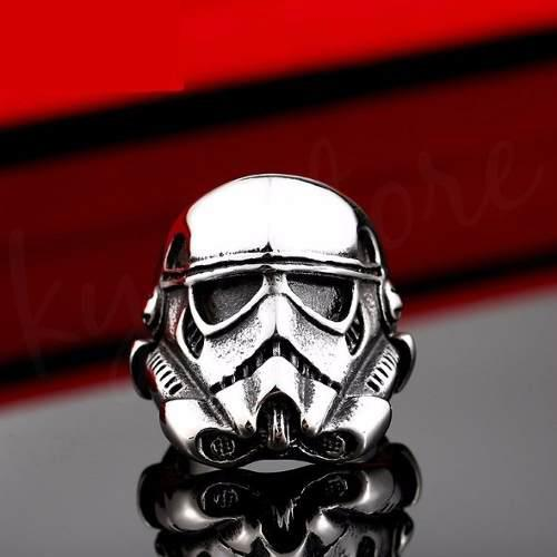 Anillo Star Wars Rouge One Stormtrooper Acero Inox 316 Hot S