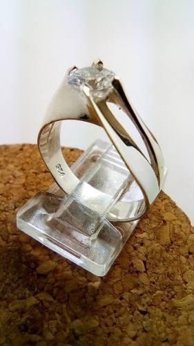 Anillo,boda,compromiso,promesa, Plata Ley.925 Y Zirconia