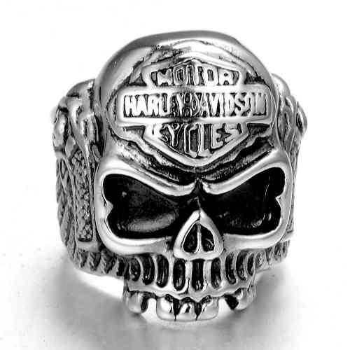 Anillos Cráneo De Acero Inoxidable Harley Davidson