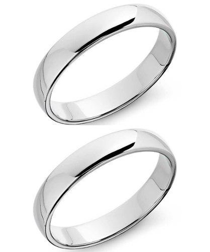 Anillos De Matrimonio Boda En Plata Con Chapa De Oro Y Rodio