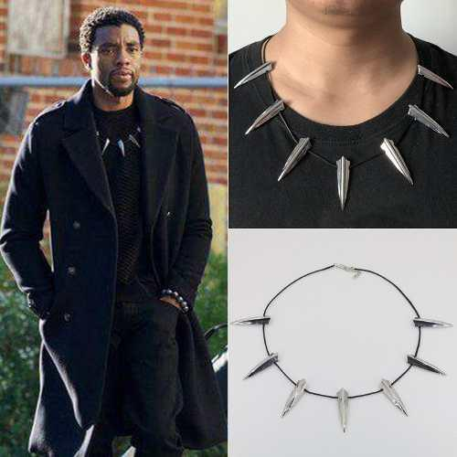 Black Panther Collar Rey T'challa Wakanda Pantera Negra Pico