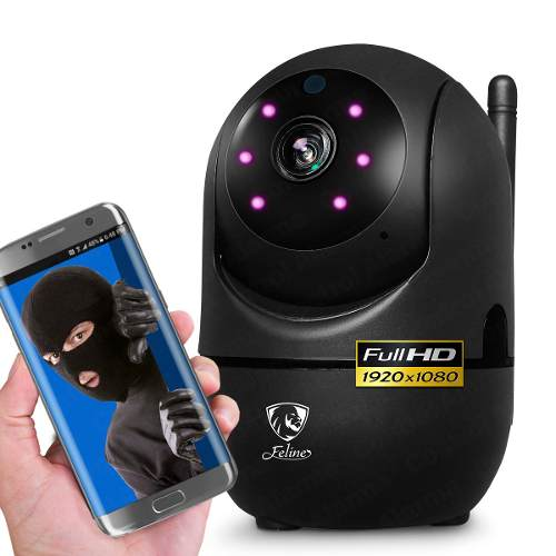 Camara Ip Negro Wifi Full Hd Deteccion Movimiento Dvr 128 Gb
