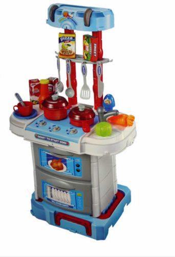 Cocina Cocinita Infantil 3 En 1 Luz/sonido 43 Pzs Solo Azul
