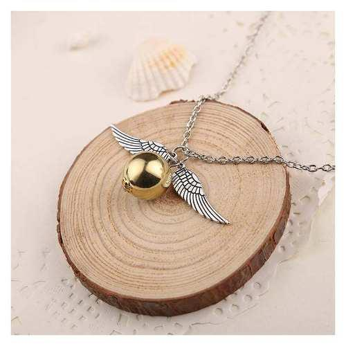 Collar Dije Snitch Dorada Harry Potter Acero Envio Gratis!