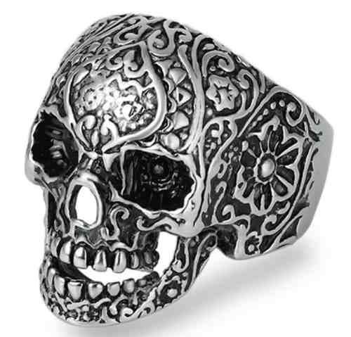 Cráneo Calavera Anillo Acero Inoxidable Rock Biker Unisex