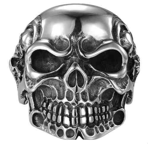 Cráneo Calavera Chopper Anillo Acero Inoxidable Unisex Br8