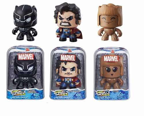 Doctor Strange Groot Black Panther Mighty Muggs Set Con 3