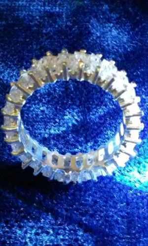 Elegante Anillo Churumbela Plata Ley.925 Y Zirconias #7,8,9