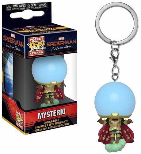 Funko Pop Spider Lejos De Casa Figura De Mysterio En Llavero