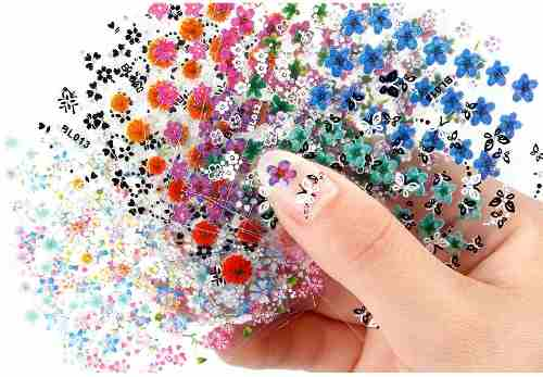 Genial Set 30 Planillas Stickers Para Uñas Nail De Flores