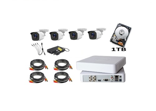 Kit Video Vigilancia 4 Cámaras Hd 720p Cctv Hilook 1 Tb
