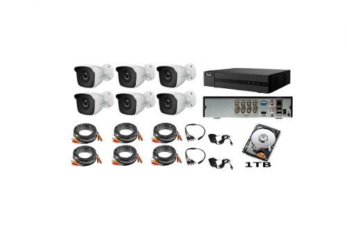 Kit Video Vigilancia 6 Cámaras Hd 720p Hilook 1 Tb