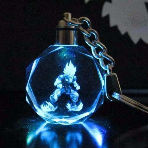 Llavero Dragon Ball Z Figura De Goku Con Luz De Led