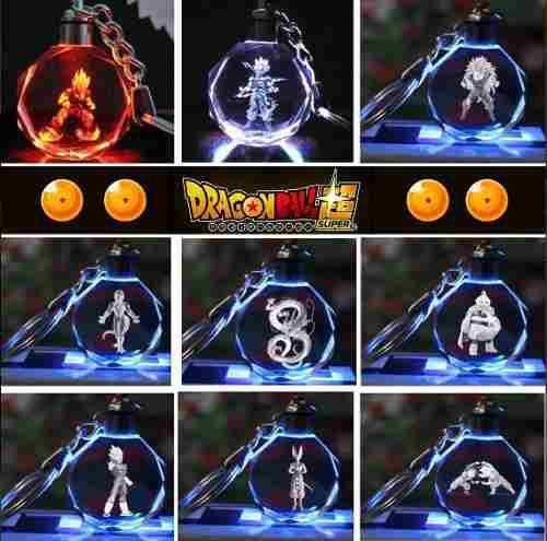 Llavero Dragon Ball Z Luz Led Multicolores+ Estuche