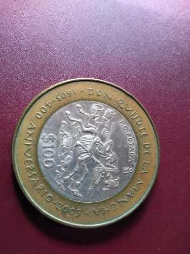 Moneda $100 Plata Conm 400 Aniv. Del Quijote De La Mancha
