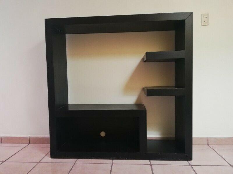 Mueble para televisión color negro