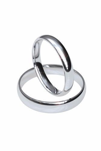 Par De Anillos De Matrimonio De 3mm En Oro De 14k
